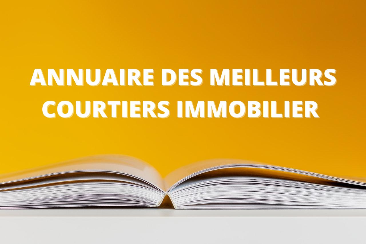 ANNUAIRE DES MEILLEURS COURTIER IMMOBILIER